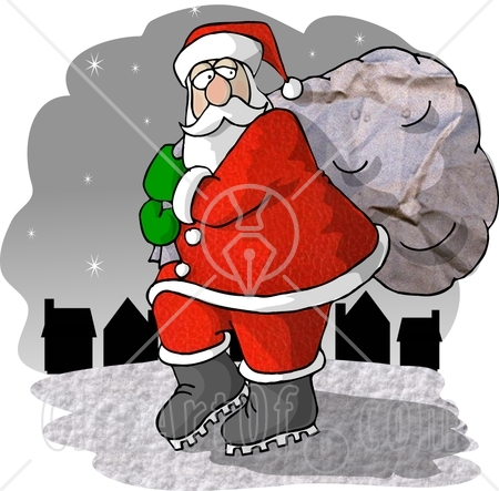 6086_santa_claus_carrying_toy_bag_to_town